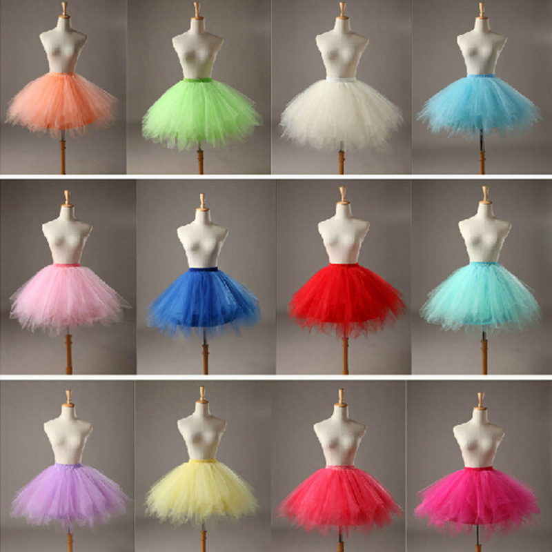 Cheap Flower Girl Mini Rainbow Tulle Petticoat Girls Puffy Crinoline Underskirts For Short Dresses Petticoat Kids Under Skirt