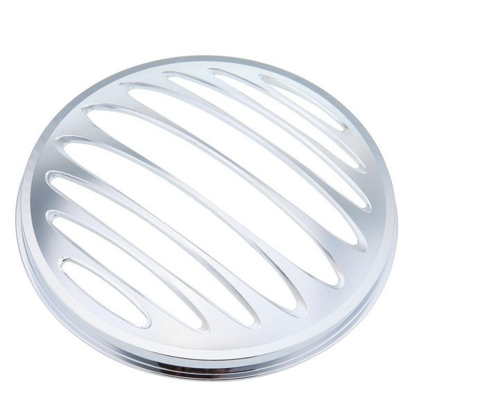ФОТО 7 Aluminum Headlight Grill Cover  Harley Davidson Touring Electra Glide FLHS
