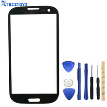 RTBESTOYZ Replacement Front Touch Screen Outer Glass Lens For Samsung Galaxy S3 Mini i8190 + Repair Tools