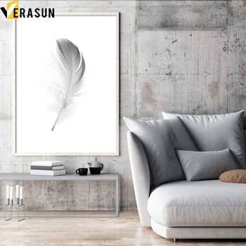 VERASUN Feather Art Print Poster Canvas Painting Pop Art Poster Cuadros Decoracion Salon Wall Pictures For Living Room Quadro