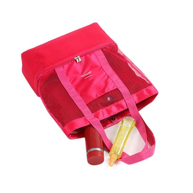 Women's Handbags 2019 High Capacity Women Mesh Transparent Bag Double-layer Heat Preservation Large Picnic Beach Bags Bolsas 3