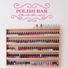 Nails Art Vinyl Wall Stickers Beauty Salon Manicure Removeable Wall Decal Polish Bar  Livingroom Girls Bedroom Decor  F916