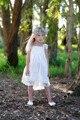 Princesa Imágenes de Comunión Vestidos de Correa de Espagueti Criss Cruzar de Nuevo vestido Del Desfile de Vestidos de Encaje de La Vendimia Vestidos de Niña