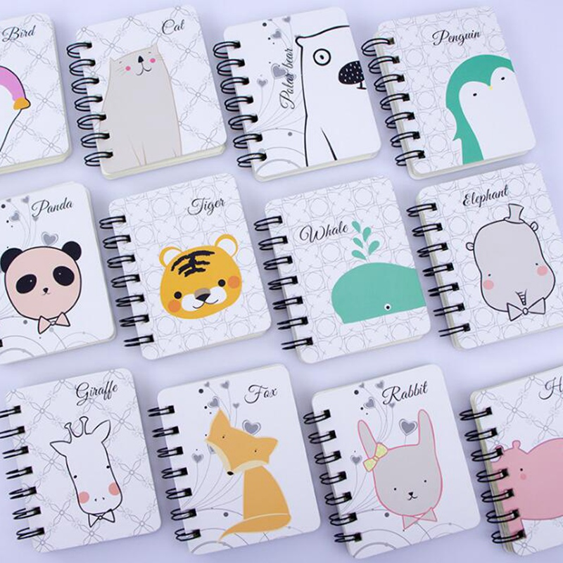 2018 Diary Planner Notebook Cute Panda Mini Coil Spiral Notepad Daily Memos Stationery Chancery School Supplies Accessories
