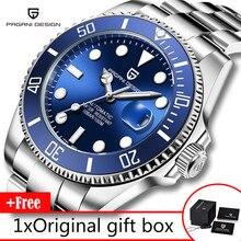 PAGANI עיצוב מותג גברים של שעוני יוקרה אוטומטי שעון גברים נירוסטה עמיד למים עסקי שעון מכאני reloj hombre