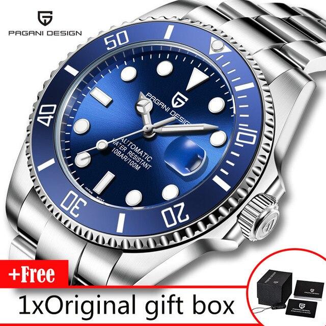 パガーニデザインブランドメンズ腕時計高級自動腕時計メンズステンレススチール防水ビジネス機械式時計リロイ hombre