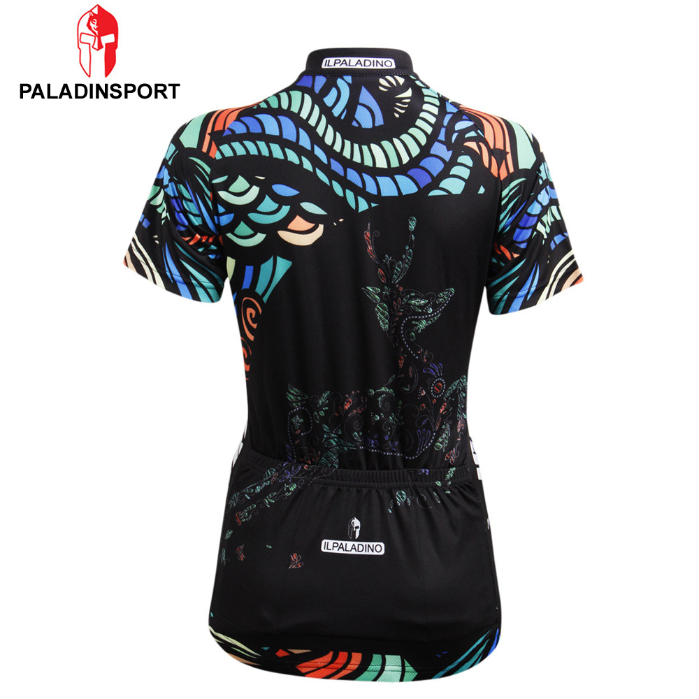 d38c2bd9b Paladin Deer Women Cycling Jersey Breathable Bike Clothing Quick-Dry Bicycle  Sportwear Ropa Ciclismo Shirt Top Black Design