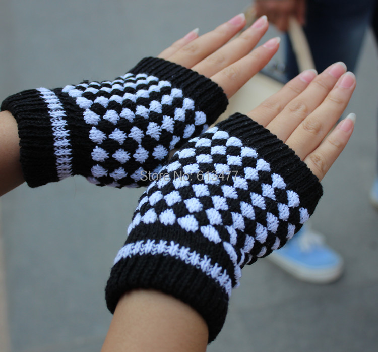Over 2pcs 30%off Autumn Winter Outdoor Warm Women Lady Knitted Mitton Protective Full / Half Finger Gloves 2pair=4pcs GW46