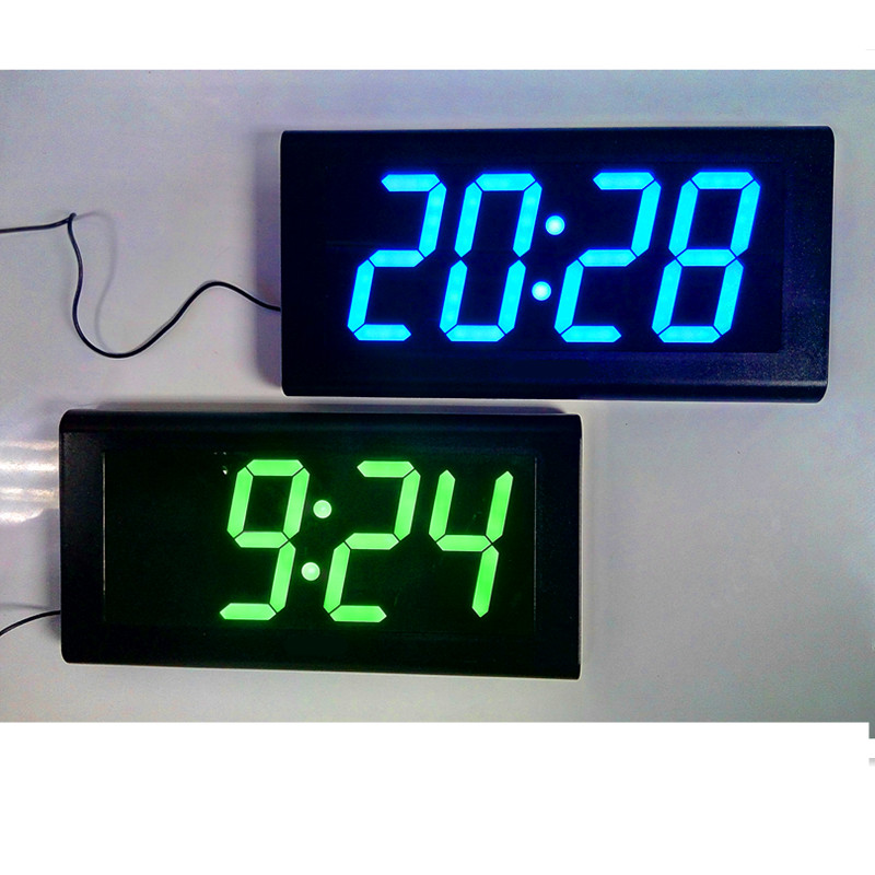 4 0 Large Led Digital Wall Clock Modern Design Home Decor Desk Table Watch Silent Living Room Decoration Red Blue Green In Clocks From