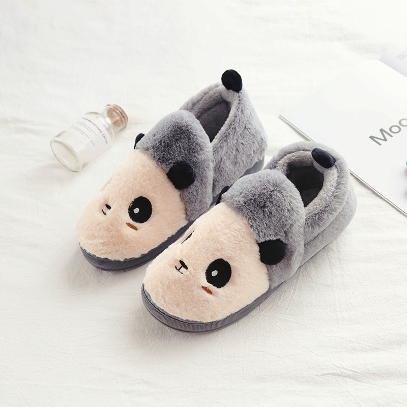 NEW STYLE  Drop shipping Women's Fuzzy Pink and light blue dog plush cotton Slippers high quality   XX01