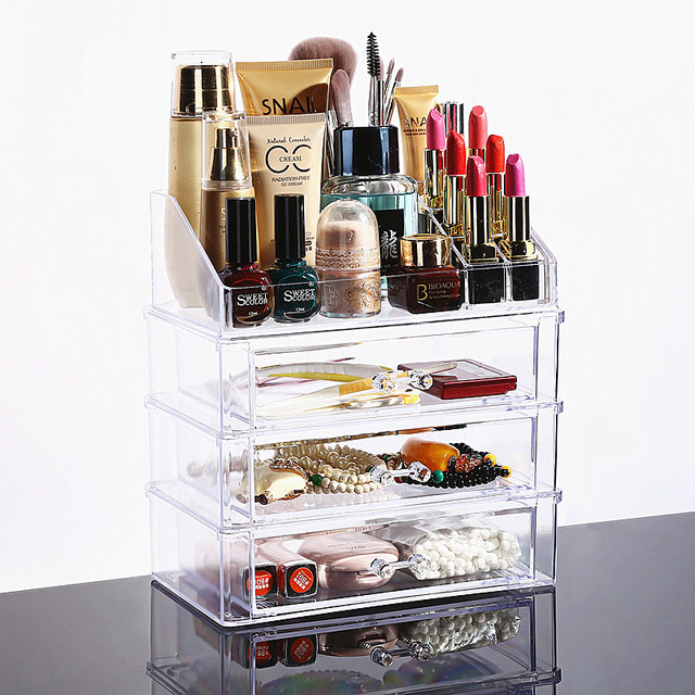 73e1ff956c8d New Clear Acrylic Makeup Organizer Desktop Cosmetic Storage Box Lipstick  Nail Polish Holder Women Makeup Tools Container-in Storage Boxes & Bins  from Home ...
