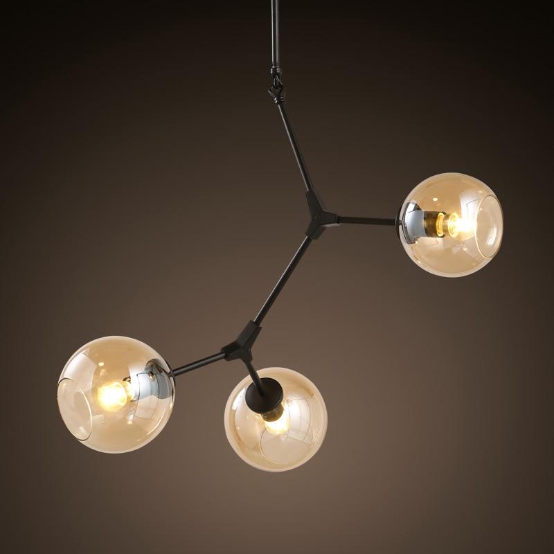 цена на 3 heads black color retro loft industrial pendant lamp dinning room  light  DNA  lighting 110v 220v E27  free shipping