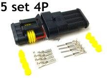 5 комплектов комплект 4 Булавки способ Водонепроницаемый электрические Провода автомобильной разъем для автомобиля