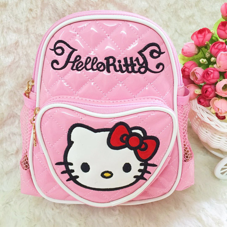 871f829176 Cartoon Hellokitty Shoulders Bag Kindergarten school Bags Girl Hello Kitty  Kid Children Backpack mochila escolar roblox soy luna-in School Bags from  Luggage ...