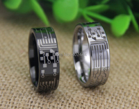 Free Shipping USA UK Canada Russia Brazil Hot Sales 8MM CIRCUIT BOARD His Her Silver Black