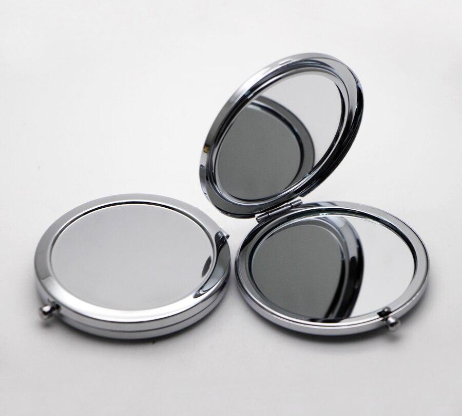 Косметическое зеркальце для макияжа Бланк компактное зеркало серебро плотная назад зеркало для DIY Decoden или в качестве сувенира 500X/ лот № ...
