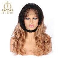 Brezilyalı Remy Saç Gevşek Dalga Dantel Ön Peruk T1B 27 100% İnsan Saç Ucuz Peruk Na Güzellik Saç Ücretsiz Nakliye