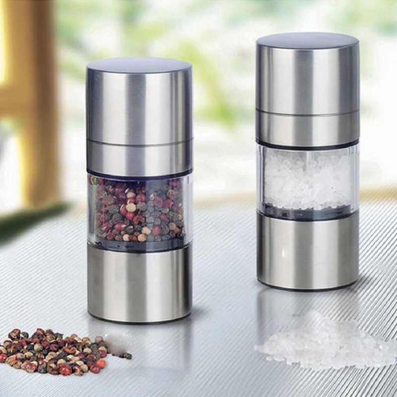 Kitchen Accessories Pepper Mill Grinder Stainless Steel Manual Salt Cumin Seasoning Muller Tools QJ888