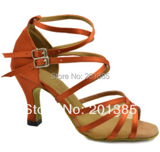 New Tan Satin Mesh Ballroom LATIN Dance Shoes SALSA Dance Shoes Performance Dance Shoes Size 34,35,36,37,38,39,40,41