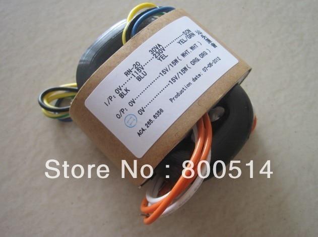 High quality  30W  230V/115v  R Core Transformer 15V+15V