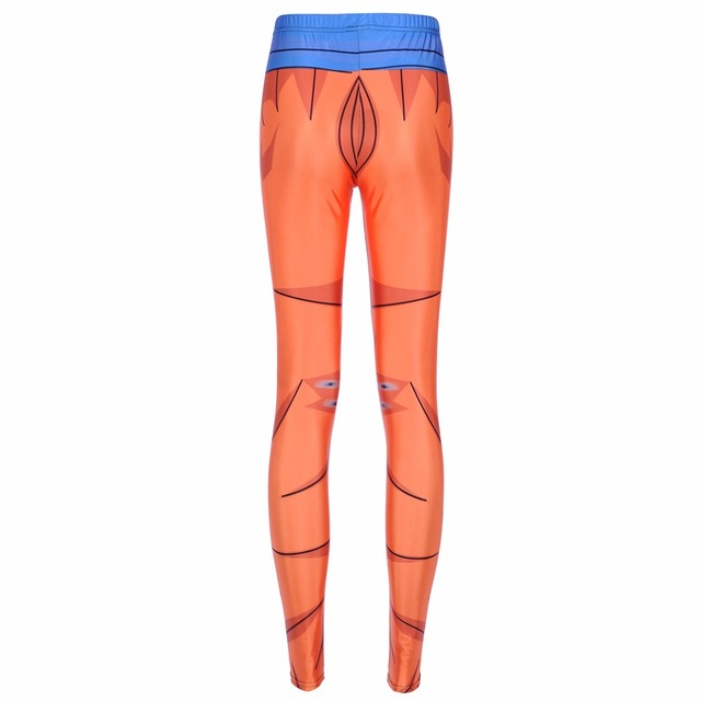 Dragon Ball Super Son Goku Cosplay Printed Fitness Workout Women Leggings