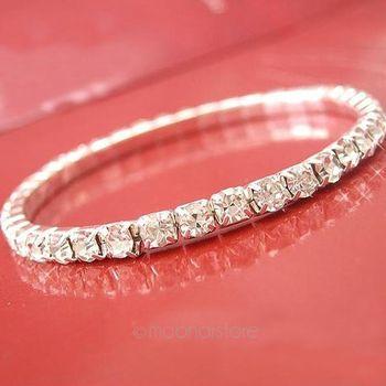 Shiny Rhinestone Elastic Bracelet