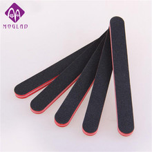 5PCS/lot red core thickening double side black nail file nail art sanding file durable salon buffer nail files sandpaper