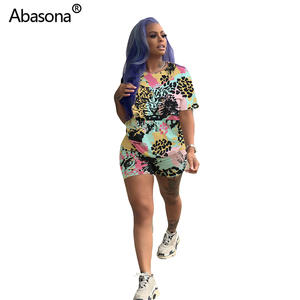 Abasona 2019 shorts suit two piece set sporting outfit