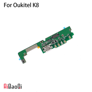 AiBaoQi New Original usb plug charge board For Oukitel K8 Mobile Phone Flex Cables charging module cell phone Mini USB Port