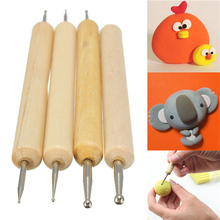 4 Types Clay Pottery Ceramic Tool Modeling Little Figurines Pack of Polymer Ceramics Sculpting Tools High Quality