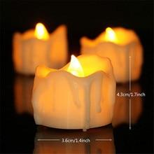 Упаковка из 6 Мерцание светодиодный свечи с таймером, Батарея электронный bougie mariage, чайные anniversaire, 6 часов, 18 часов