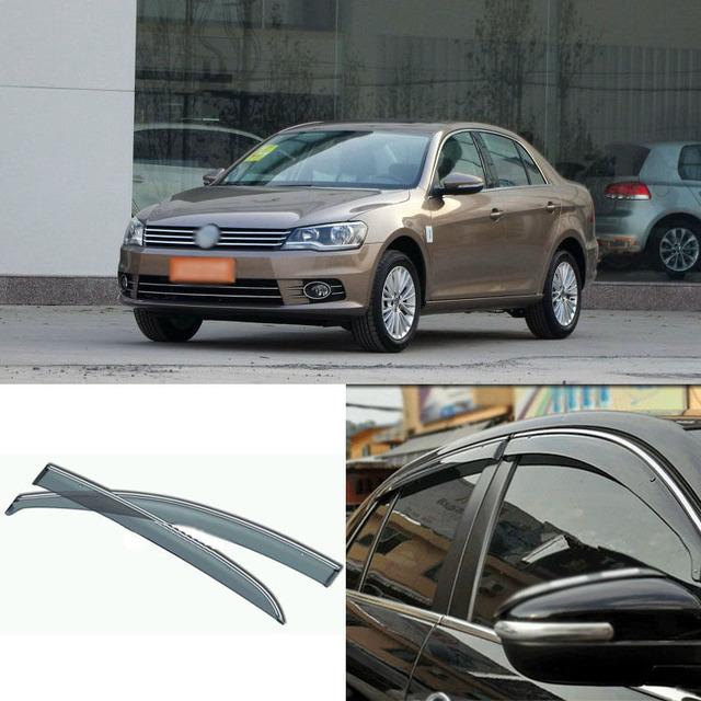 4 pcs Lâmina Lateral Do Windows Defletores Porta Viseira Escudo Para Volkswagen Bora 2008-2013