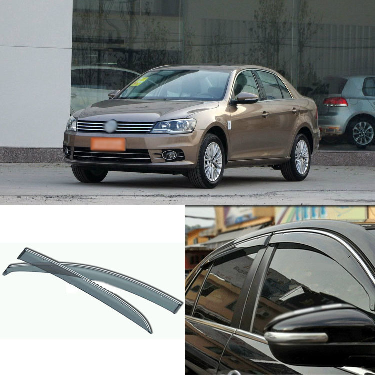 цены Jinke 4pcs Blade Side Windows Deflectors Door Sun Visor Shield For Volkswagen Bora 2008-2013