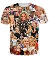 2015 новые прибытия женская одежда мода 3d майка эми полер папарацци футболка веселый роли в голливуде сексуальные рубашки