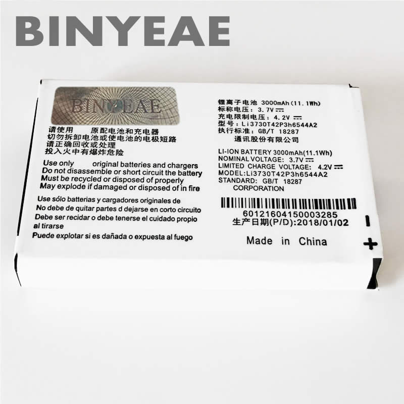 US $6 42 10% OFF|BINYEAE LI3730T42P3H6544A2 Battery For ZTE MF286 MF96  MF96U Z289L For T mobile Sonic 2 0 Mobile Phone Batterie Bateria  Batteries-in