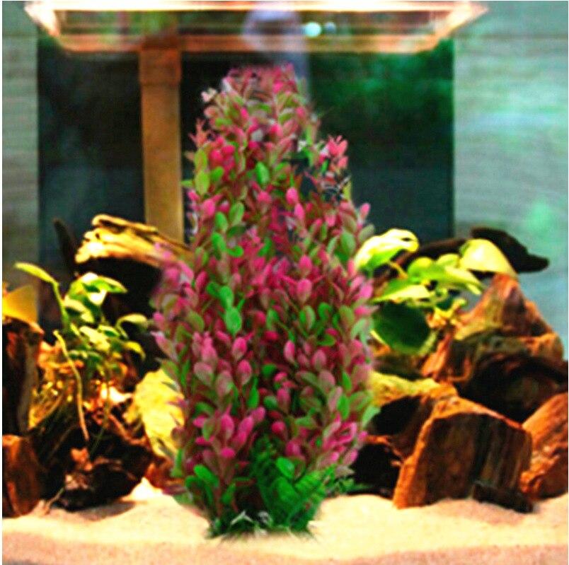 Large 45cm High Red Artificial Plant Aquarium PLASTIC