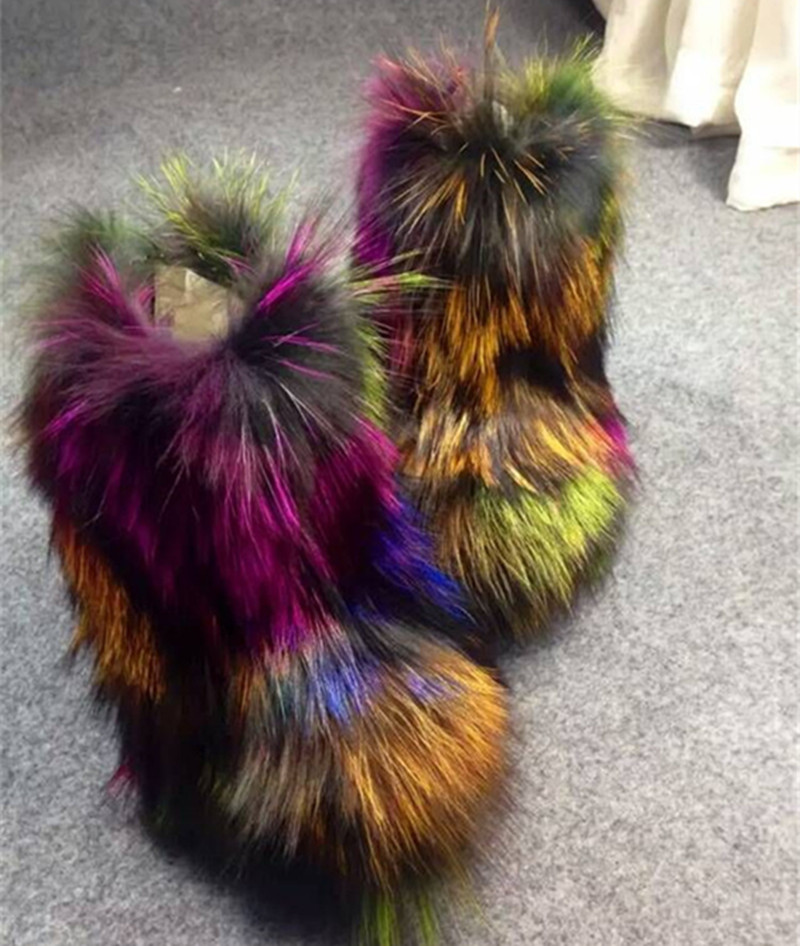 Europe Handmade Exclusive New Fashion Colorful Fox Fur