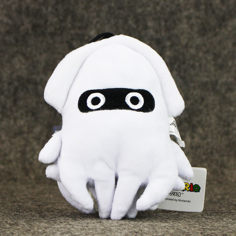 5pcs lot Super Mario Bros Blooper White Squid Plush Toys Soft Stuffed Kids Doll Collcection Toys