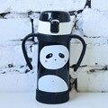 304 термос с изоляцией из нержавеющей стали панда Пингвин кофейная чашка с соломинкой портативная термо-Вакуумная бутылка для воды детский п...