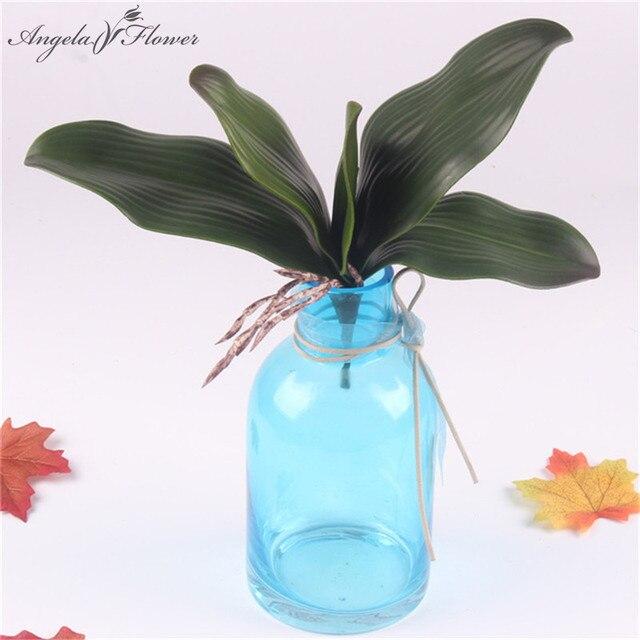 1 pc reale di tocco pianta artificiale phalaenopsis foglia DELL'UNITÀ di elabora
