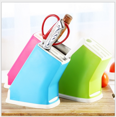 High Quality Multifunction PP Knife Holder Kitchen Accessories Knife Stand Free Shipping