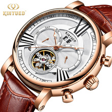 KINYUED Automatic Mechanical Watch Mens Luxury Brand Tourbillon Watches Perpetual Calendar Army Military Male Clock reloj hombre цена и фото