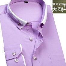 Новое поступление, мужская рубашка с длинными рукавами, Однотонная рубашка с квадратным воротником, очень большая мода, Большие Размеры M-9XL