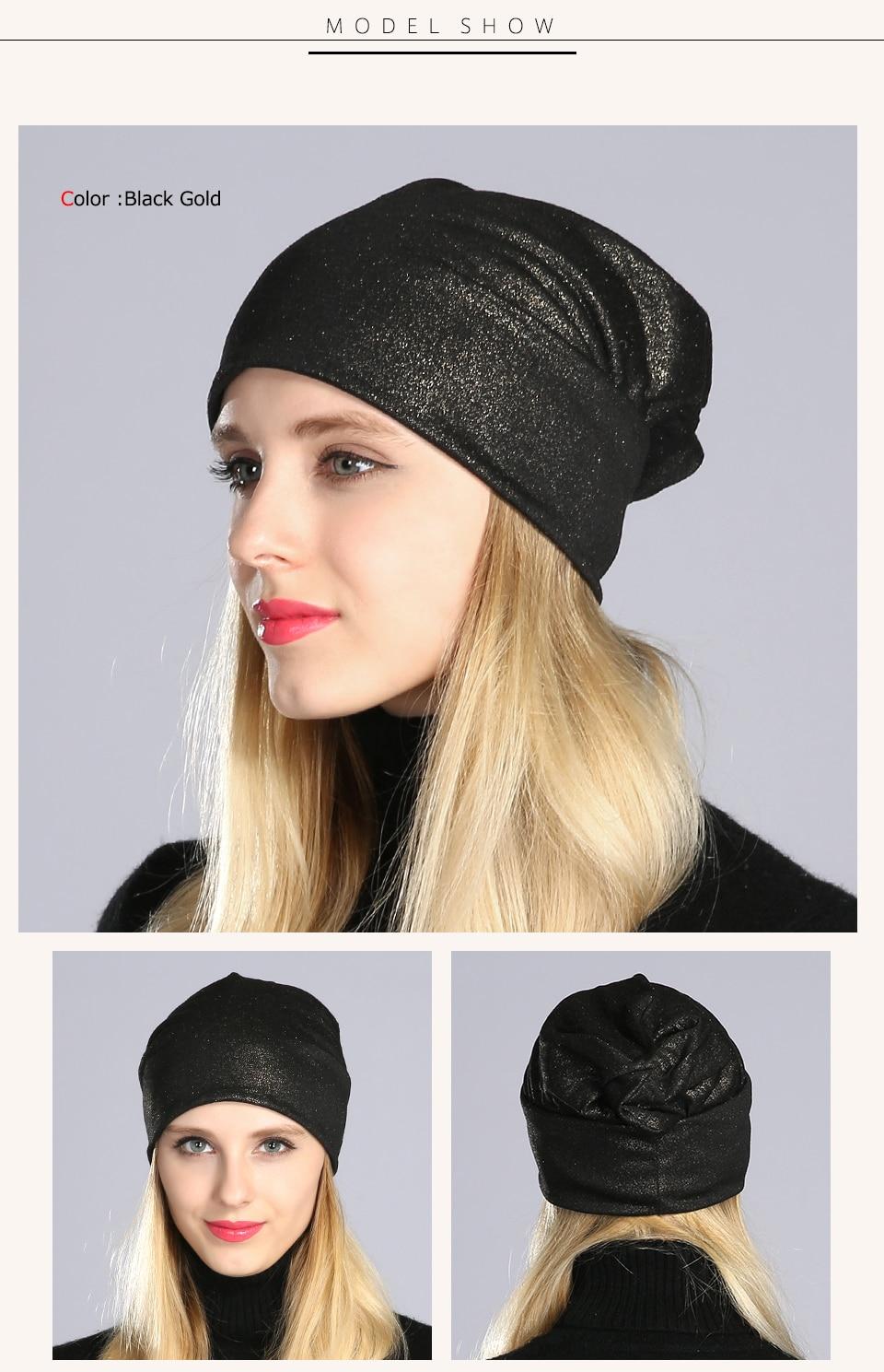 Geebro Printemps Femmes de Bronzage Noir Bonnets Chapeau Occasionnel ... 2995f398db2