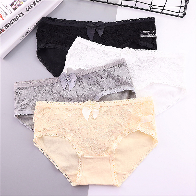 5 Pcs/Lot Kids Underwear Floral Candy Colors Young Girl Briefs for Teenage Girls Short Lace   Panties   Pants Underpants 9-20T