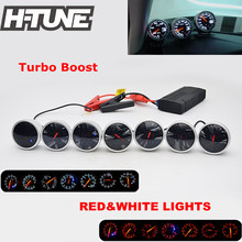 H-TUNE 2.5inch 60mm DF BF Universal Auto Turbo Boost Gauge Meter with Red&White Light Color