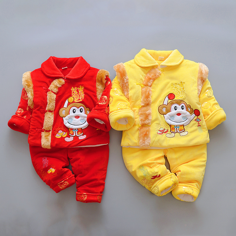 Happy New Year Cotton Chinese Traditional Clothing for Baby Children Spring Festival Winter Thick Tang Suits Exquisite Embroider детское автокресло happy baby skyler blue