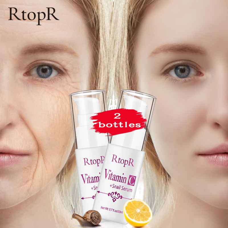 VitaminC Snail Repair Serum Anti Wrinkle Firming Bright Skin Serum For Face Ance Treatment Snail VC Collagen lotion 2 bottles(China)