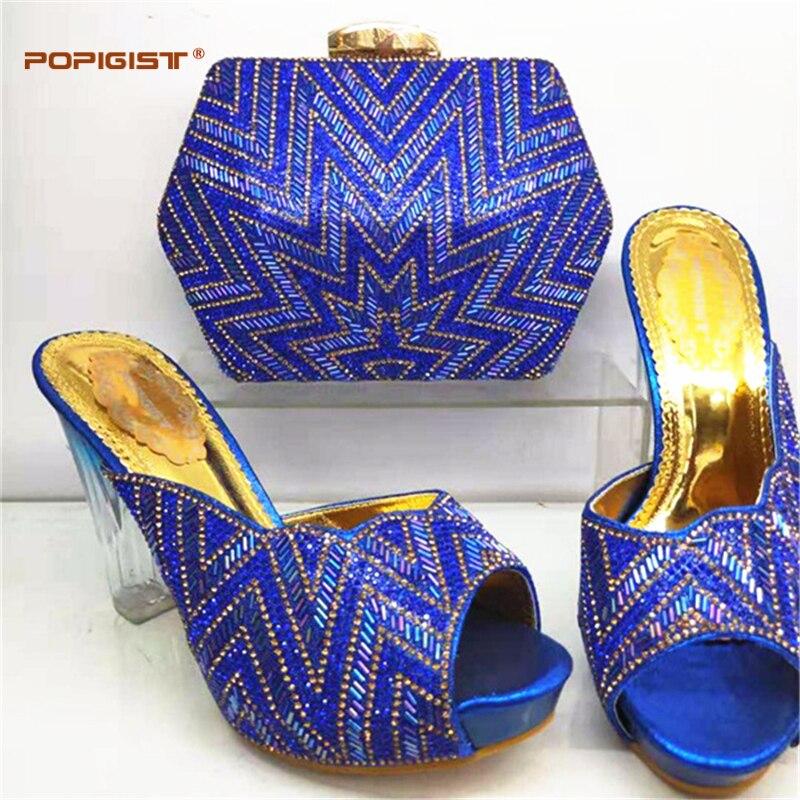 Et Mariage Vente Assorti De Italiennes Chaussures Couleur royal Sac Les Sacs Rouge Ensembles gold Blue Chaude Assortis red Avec Black Africains purple fg6Yv7by