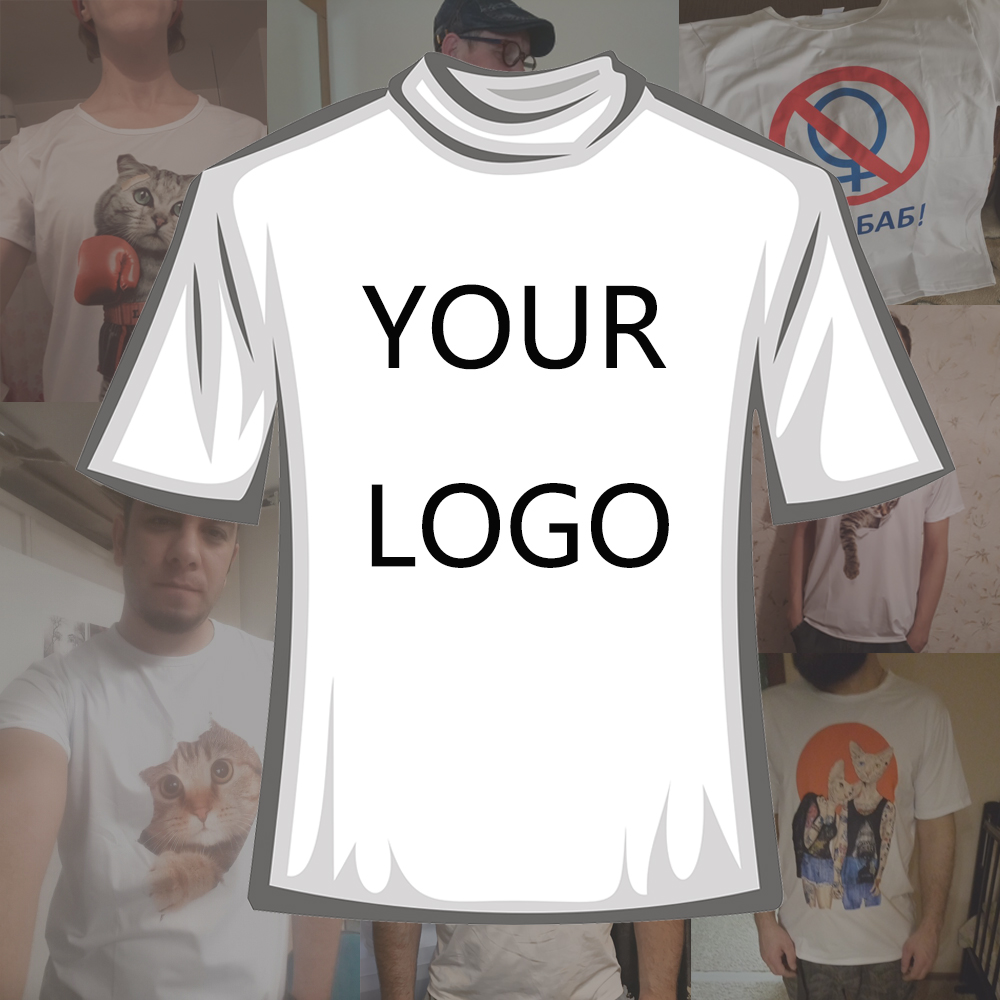 e8782f94 TEEHEART Customized T shirt Male Men Printing Short-sleeve Top Tees Own Custom  Printed Personalized